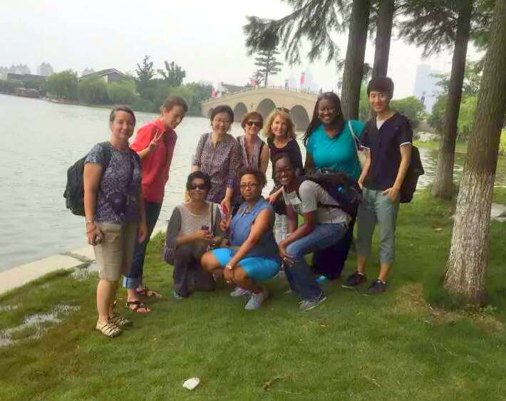 At Jinji Lake in Suzhou. Suzhou was a seriously cool place to visit!