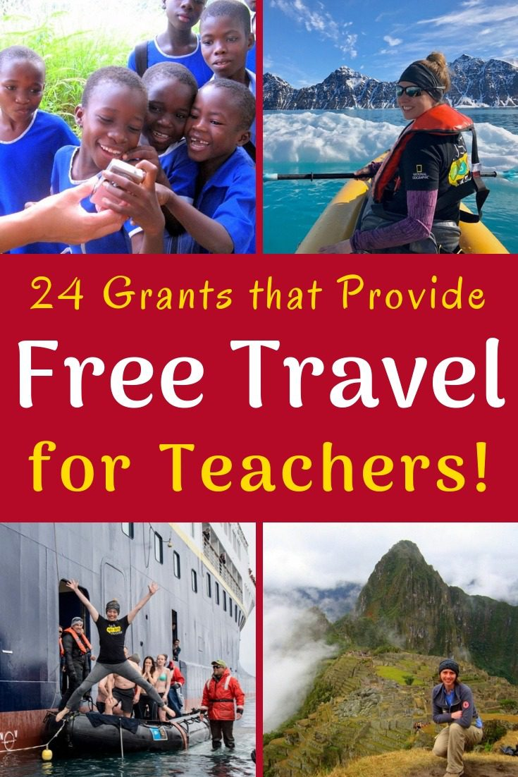 Free travel is possible if you're a teacher! Check out this huge list of opportunities to see the world through grants, scholarships, and programs.