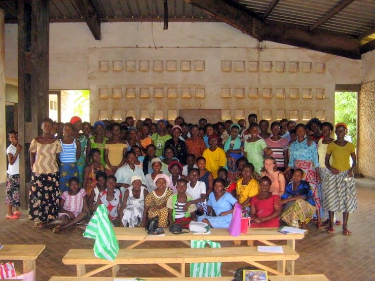 Visiting a peer taught AIDS education class in Togo.