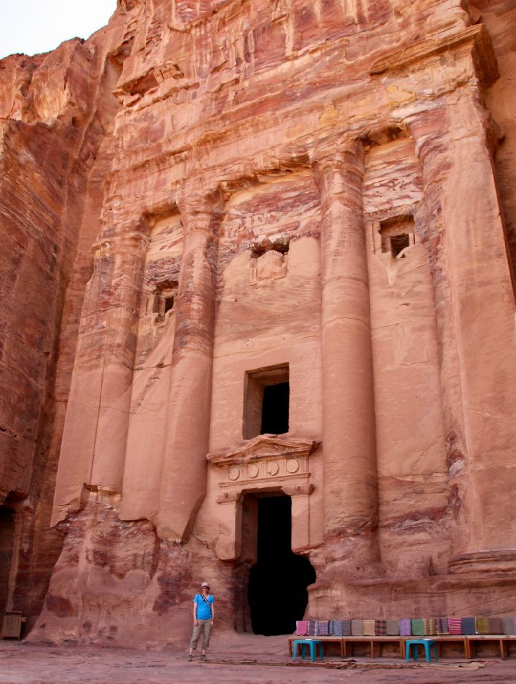 Free travel is possible if you're a teacher! Check out this huge list of opportunities to see the world through grants, scholarships, and programs. Pictured: At Petra, the ancient city in Jordan.