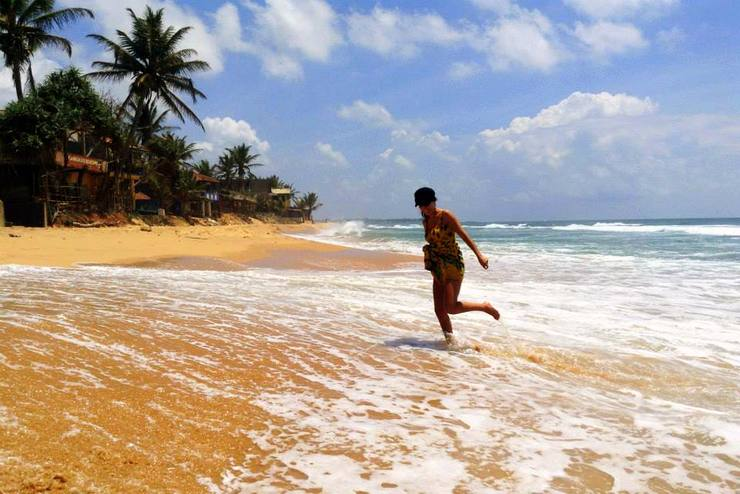 Enjoying EID break on a beach in Sri Lanka.