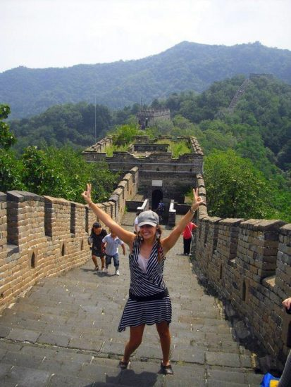 At the Great Wall of China, Beijing.