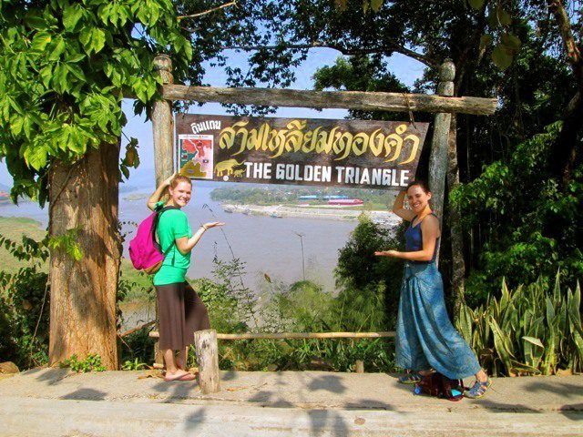 Visiting the Golden Triangle in the North of Thailand.