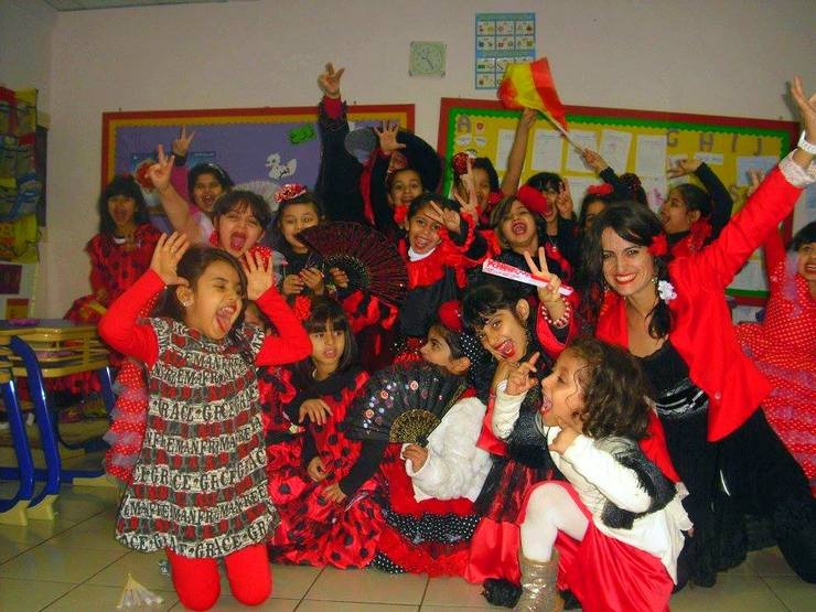 Nuria during International Day at her school in Kuwait!