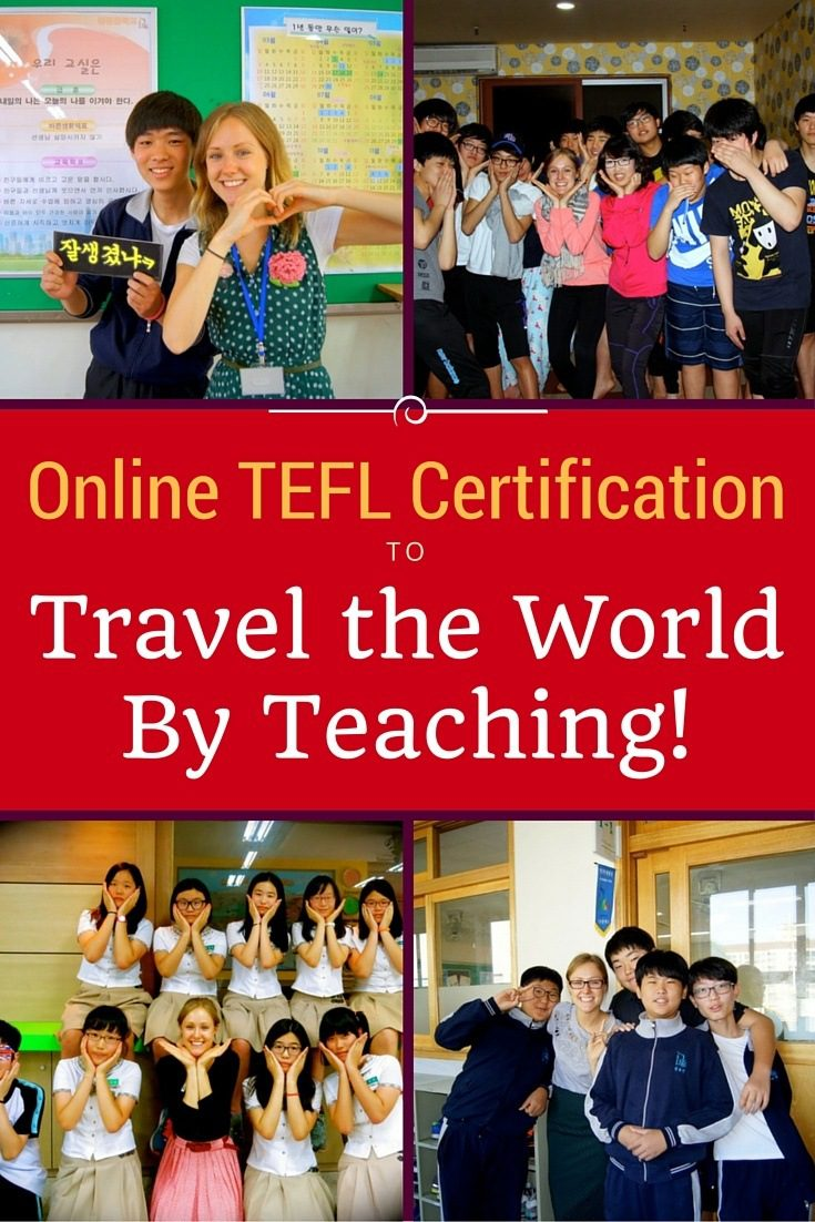 How to pay for travel around the world by getting TEFL certification through an online course to earn money teaching abroad!