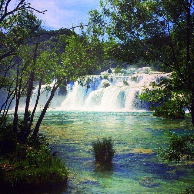 Krka national Park is a beautiful spot in Croatia.