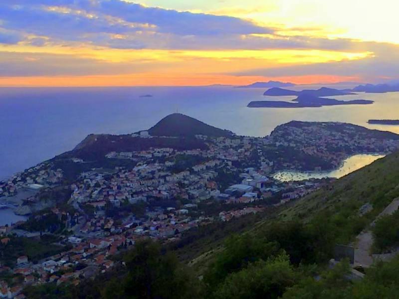 A stunning Dubrovnik sunset.