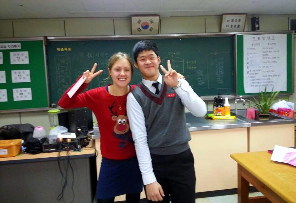 Teaching abroad allowed Laura to make great bonds with students.