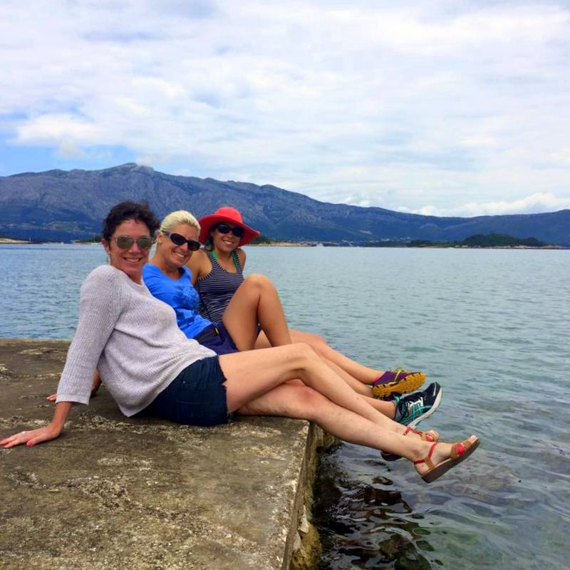 Members of the group, lounging in Korcula.