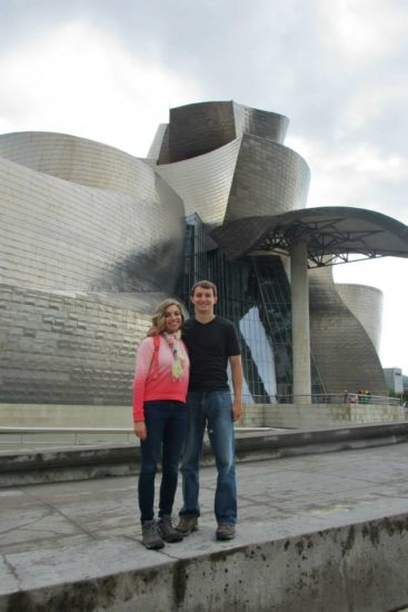 Taking in the architecture of Bilbao, Spain.