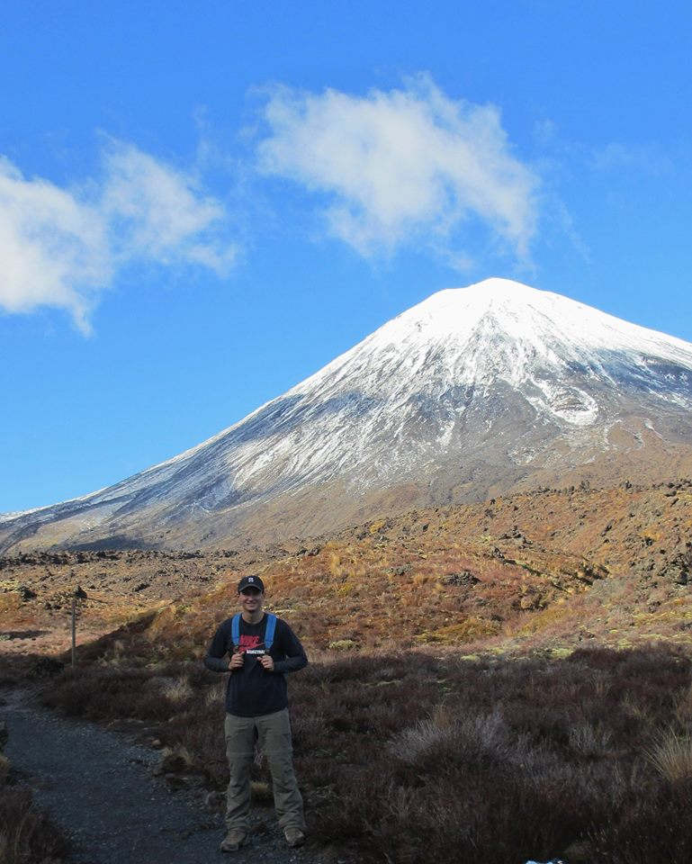 Jeremy hiking Mount Ngauruhoe in New Zealand. Lord of the Rings fans will recognize this as the real-life Mount Doom!