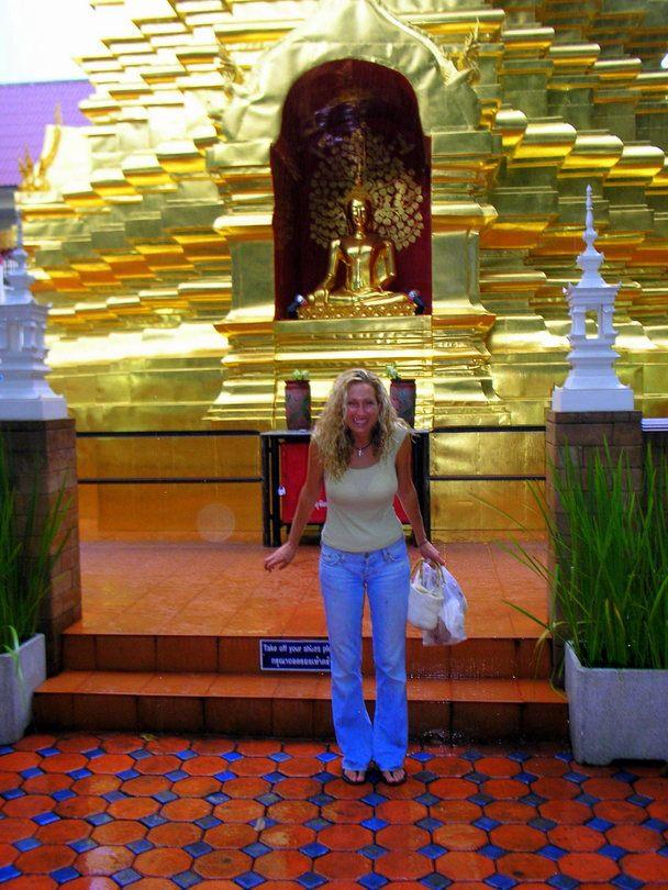 Golden temples in Thailand.