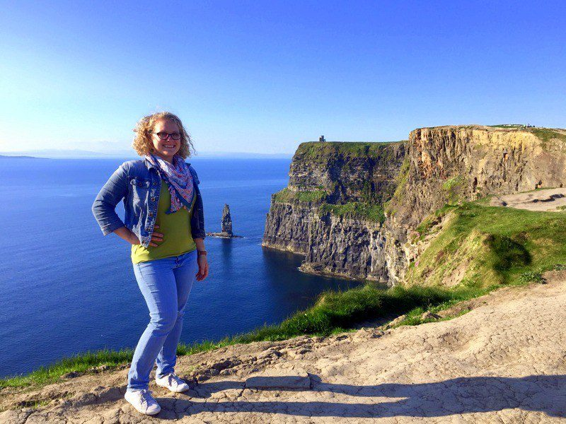 The towering Cliffs of Moher in Ireland.