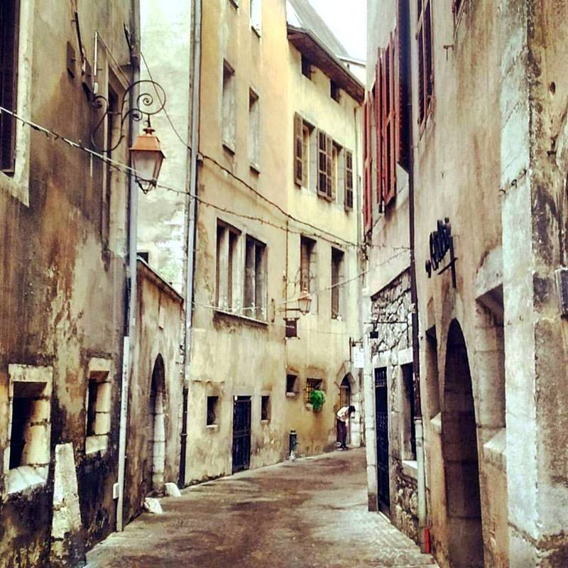 Lovely streets of Chambery, France.