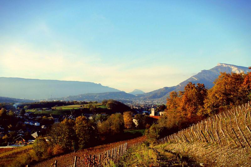 The calming countryside in Chambery, France.