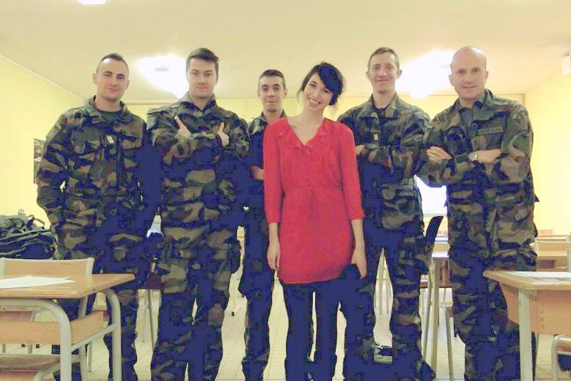 Teaching the French army in France!