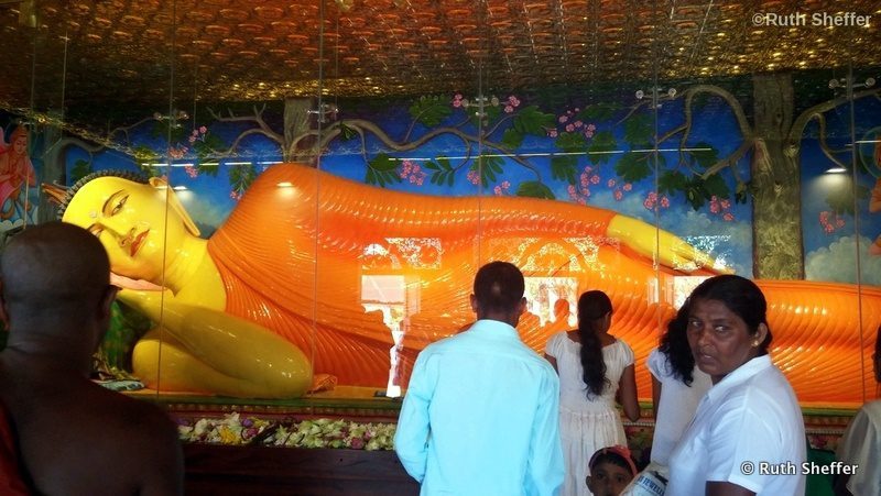 Giant Buddha in Anuradhapura, Sri Lanka.