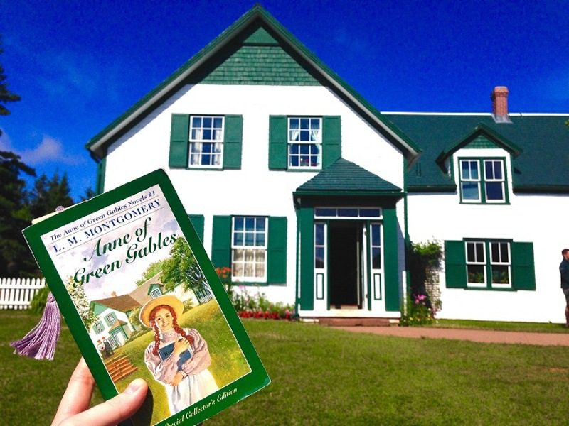 Visiting the site of Anne of Green Gables.