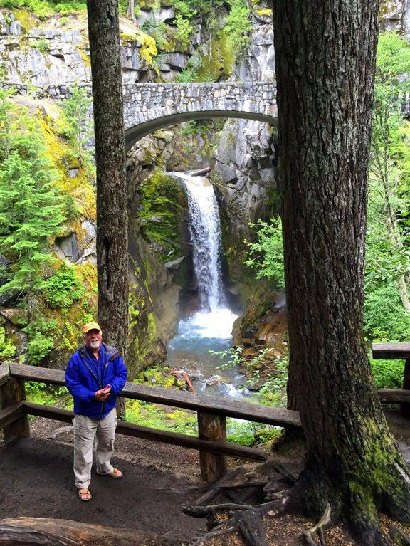 Bruce at Christine Falls, Mt. Rainier.