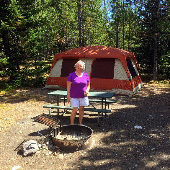 Camping in Grand Teton National Park.