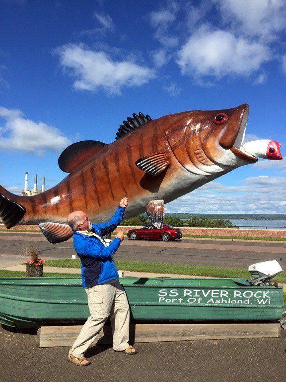 Bruce fly fishing in Ashland, Wisconsin.