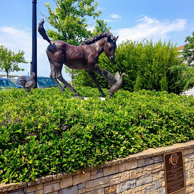 The statue of Misty in Chincoteague, Virginia .