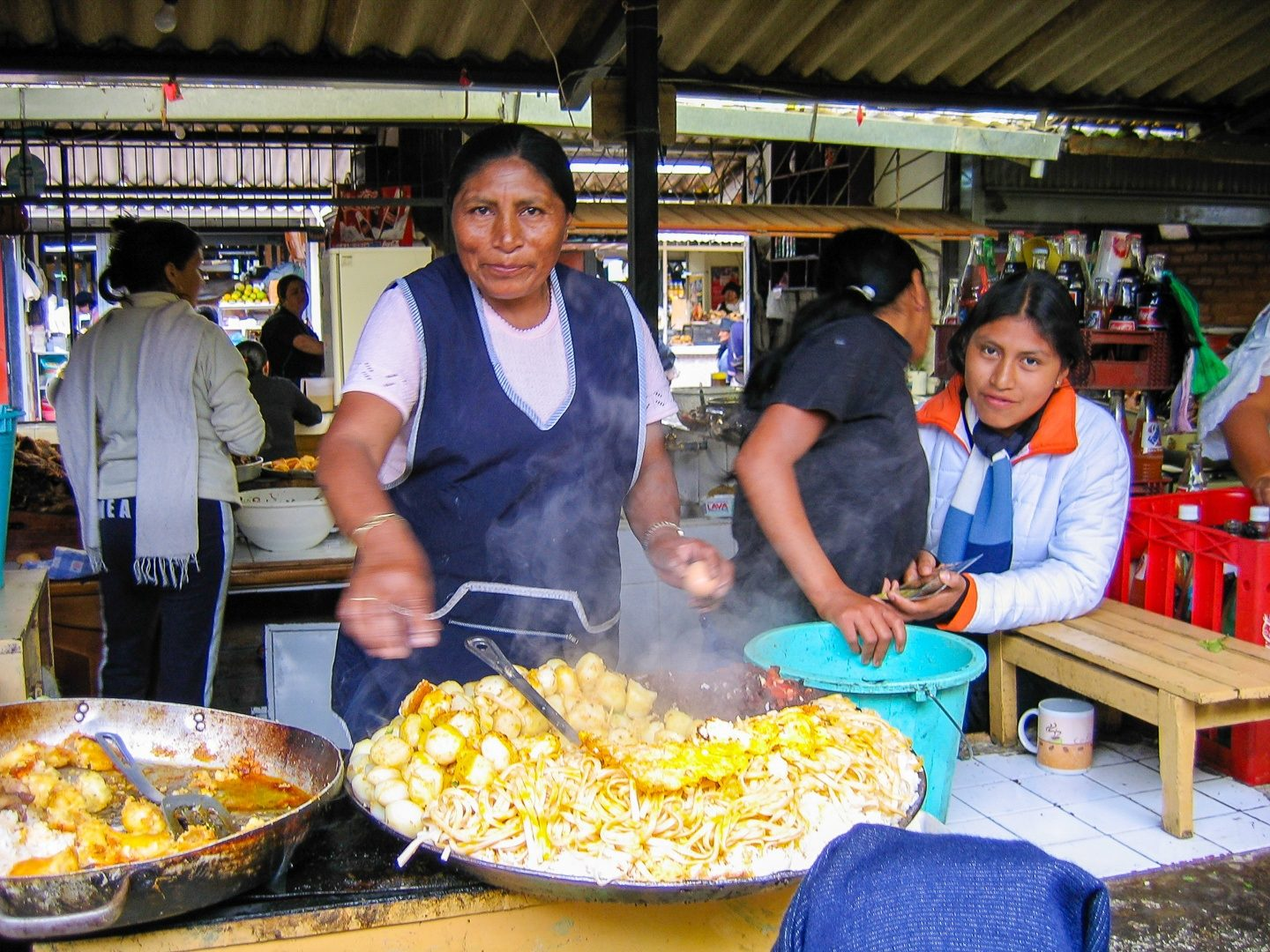 "In Otavalo, a woman at a kitchen in the market complemented Ernie's Spanish, asked if he had a home, a car and a job. His positive answers to her questions caused her to summon Maria who the woman told him could ""cook, clean, make a nice wife and bear healthy children."" He doesn't don't remember how he got out of that situation."