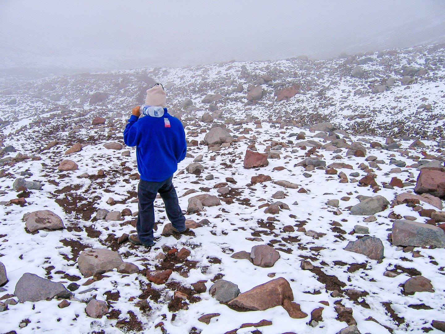 The last thing Ernie remembers before nearly blacking out over 5000m on Chimborazo in Ecuador was his guide Joel trotting along the mounting like they were at sea level.