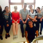 Nathan and his wife (middle, wearing red and grey) with their students in Turkey.