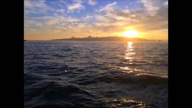 Looking across the Bosphorus at the European side, Istanbul.