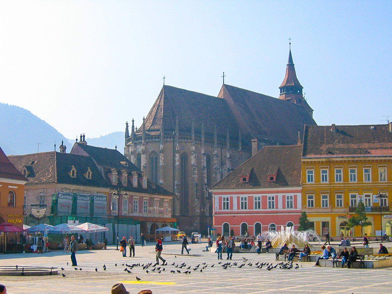 Black church in Brasov, Romania.
