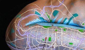 This Man Draws Fictional Maps on People's Skin, and the Results are Beautiful!