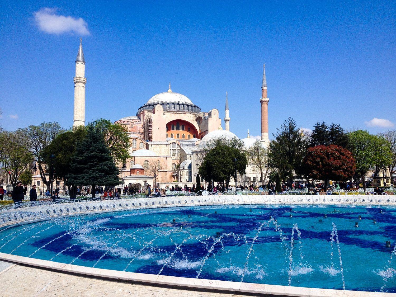 The Hagia Sophia, Istanbul, Turkey, 2015.
