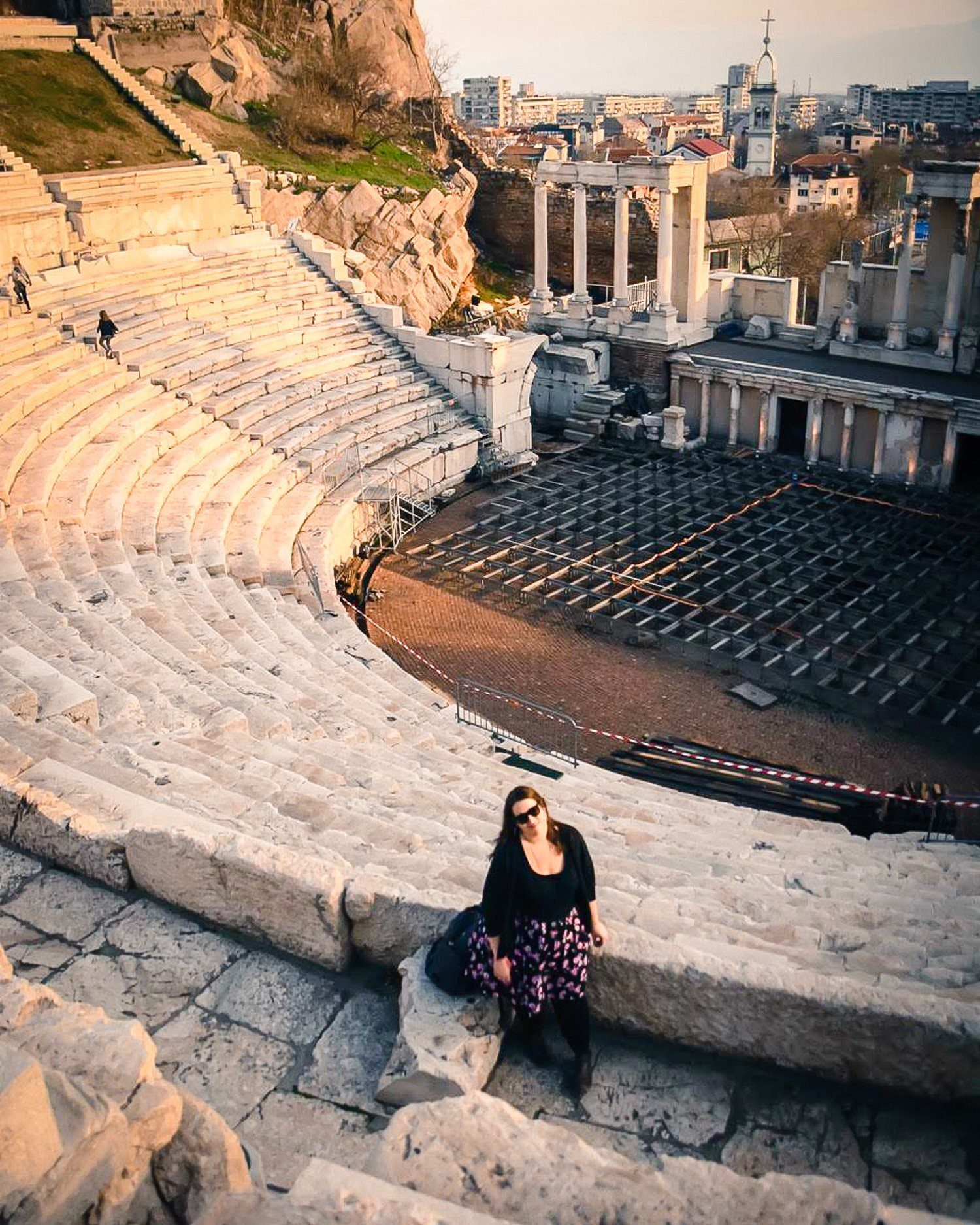 The largest and best preserved ancient Roman theater, in Plovdiv, Bulgaria.