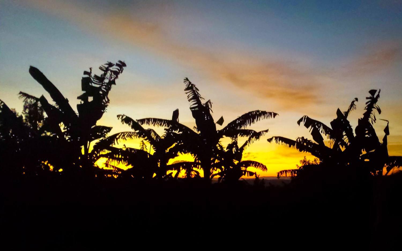 Sunset in Rwanda.