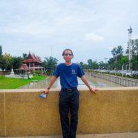 Charles exploring the ancient city of Ayutthaya, Thailand.