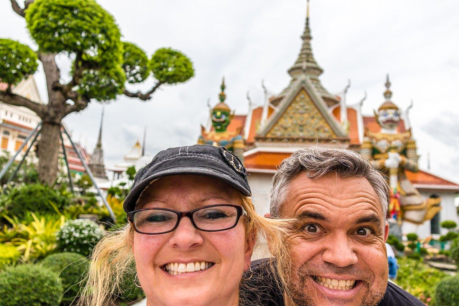 Sheila with her husband, Evo Terra, in Thailand, where they now work.