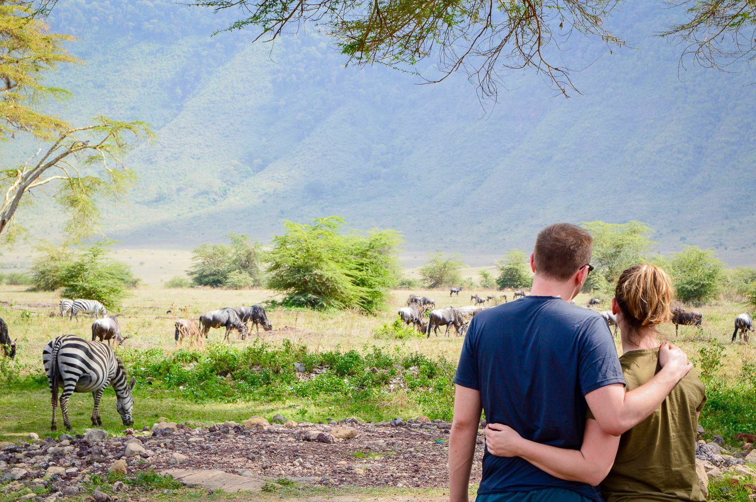 Taking it all in at the Ngorongoro Crater in Tanzania
