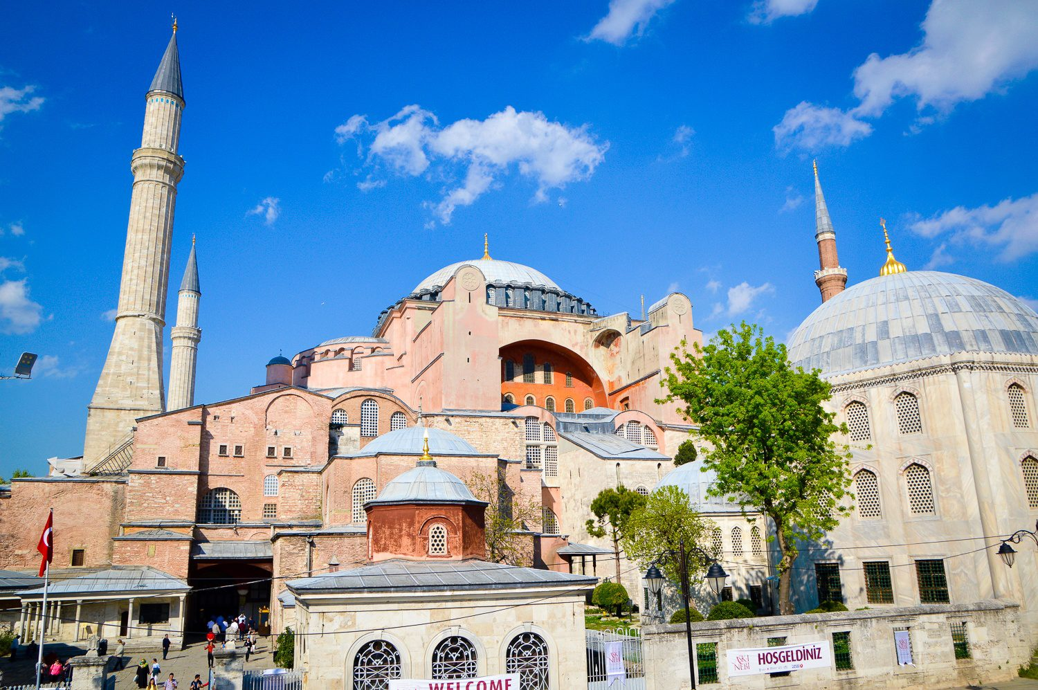 The famous Hagia Sophia in Istanubl.