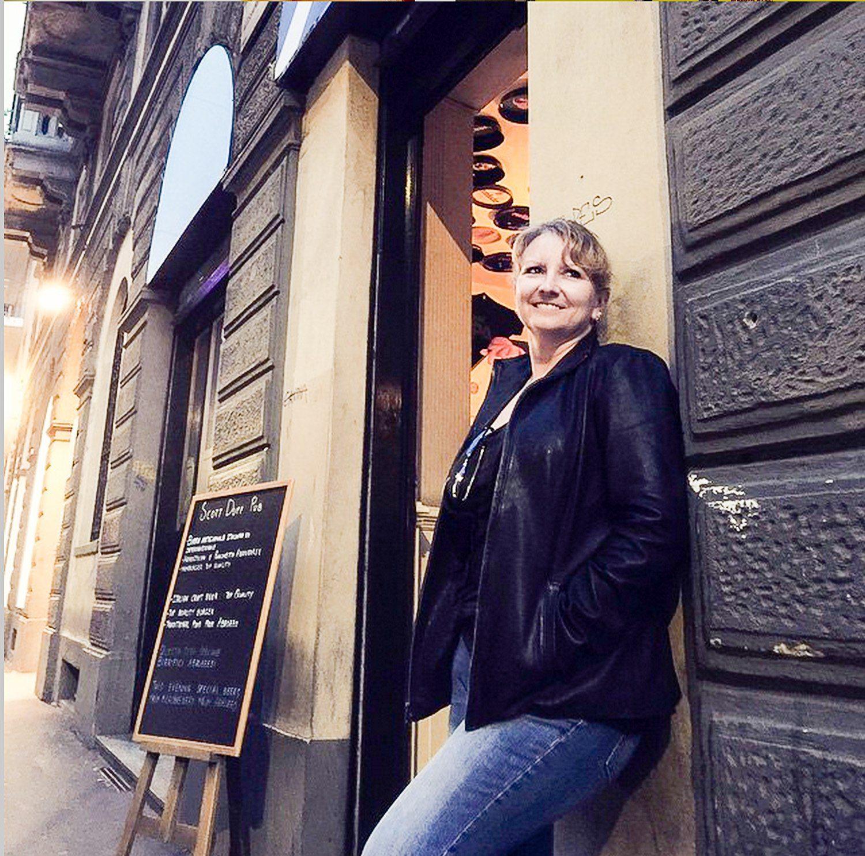 Sheila relaxing in Italy.