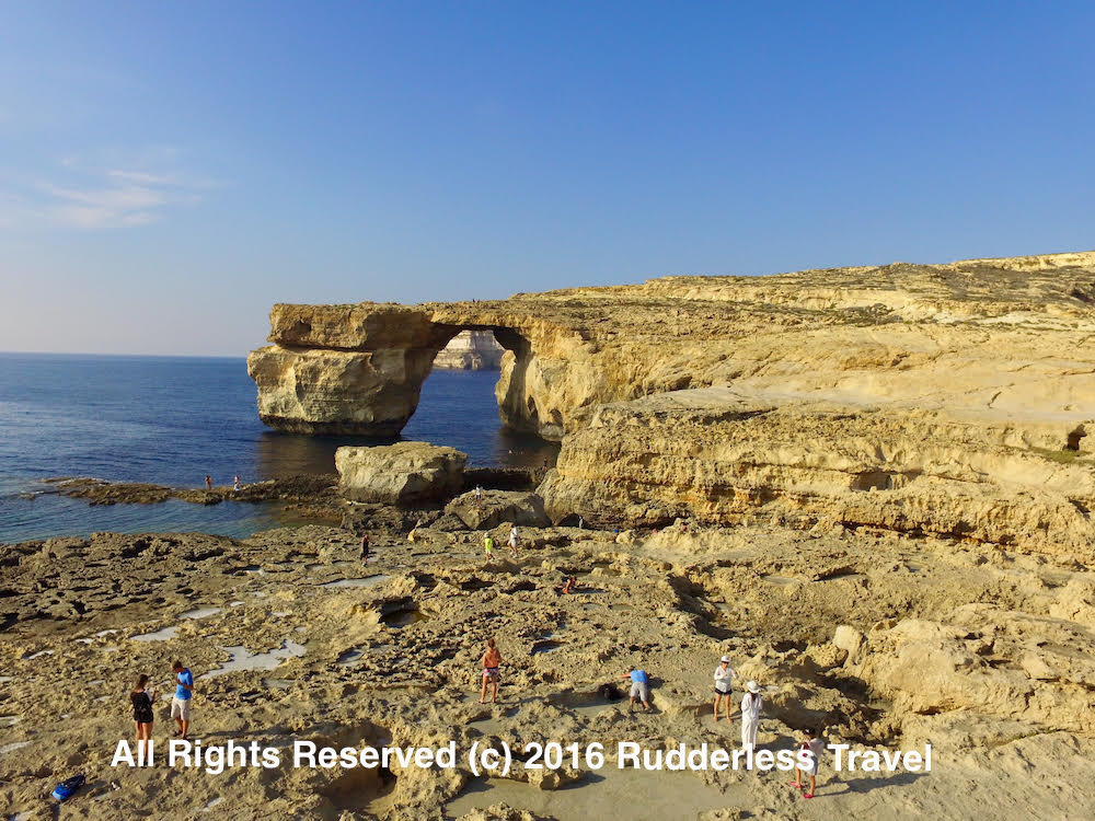 The Azure Window (before it collapsed) in Gozo, Malta.