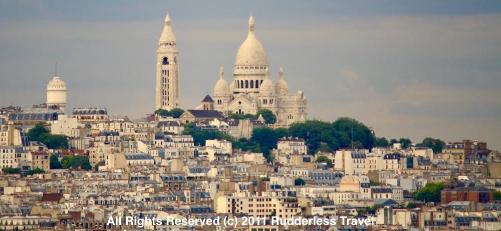 Views of Sacre Coeur in Paris, France.