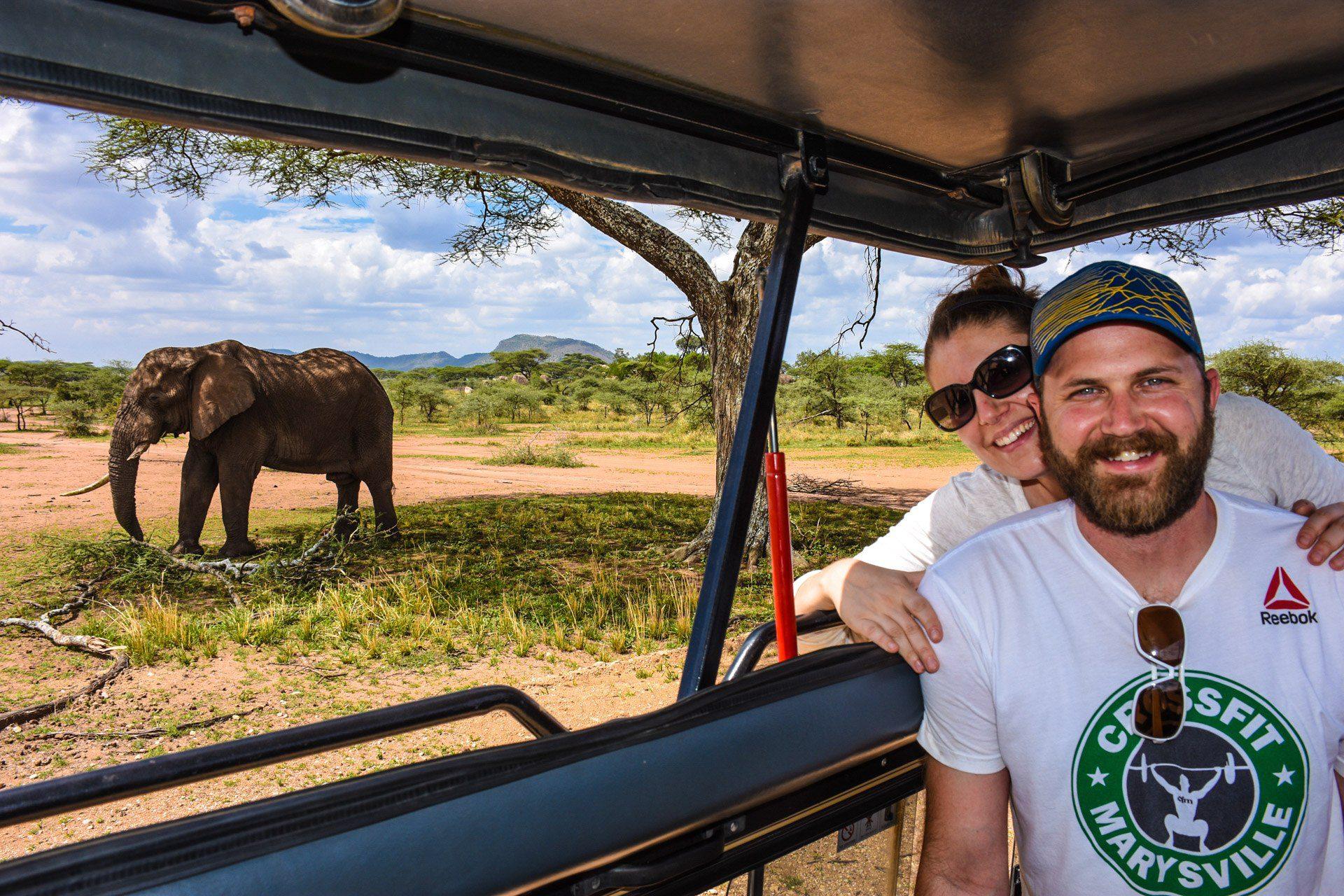 On a thrilling African Safari.
