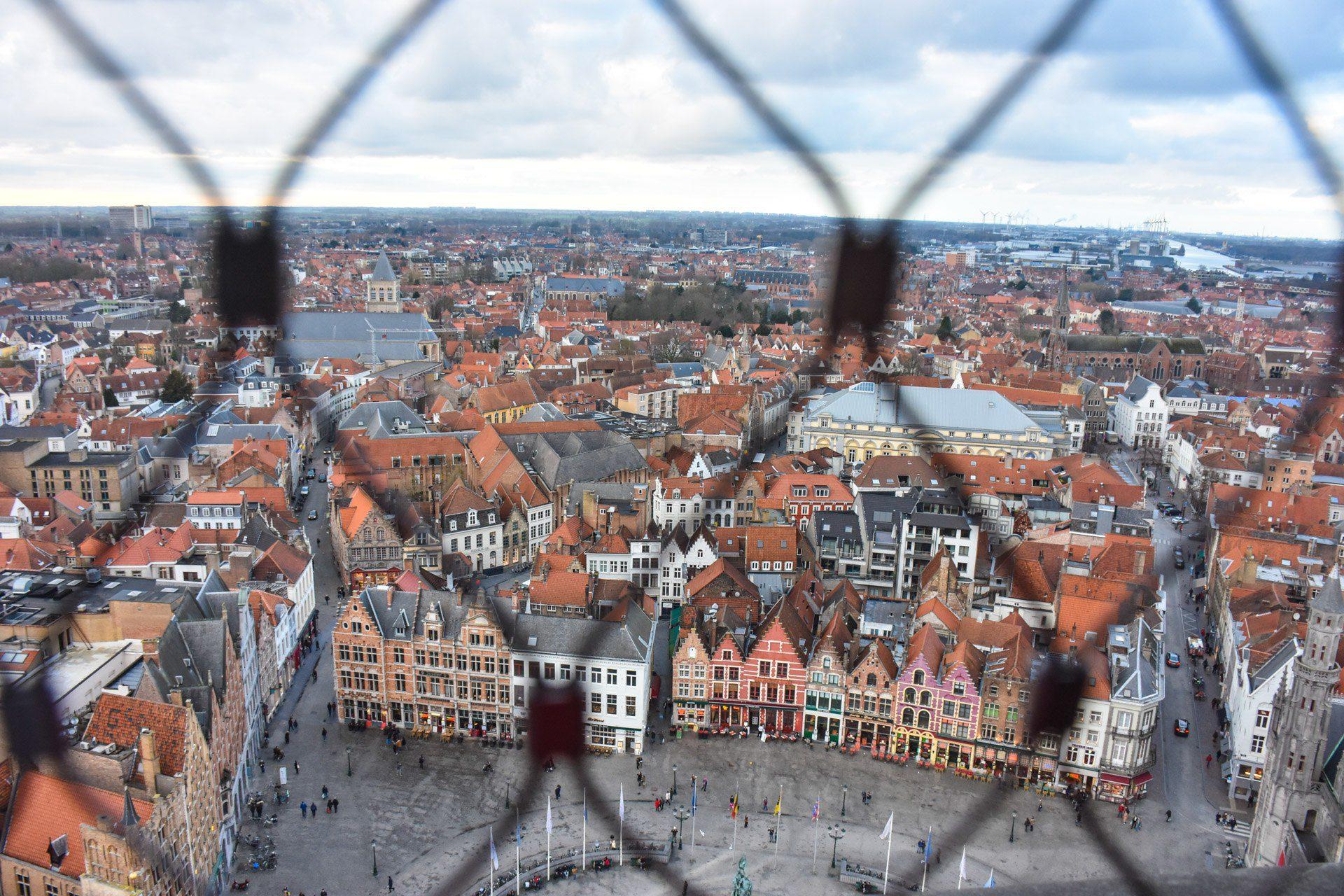 Gazing at Bruges, Belgium through a gate.
