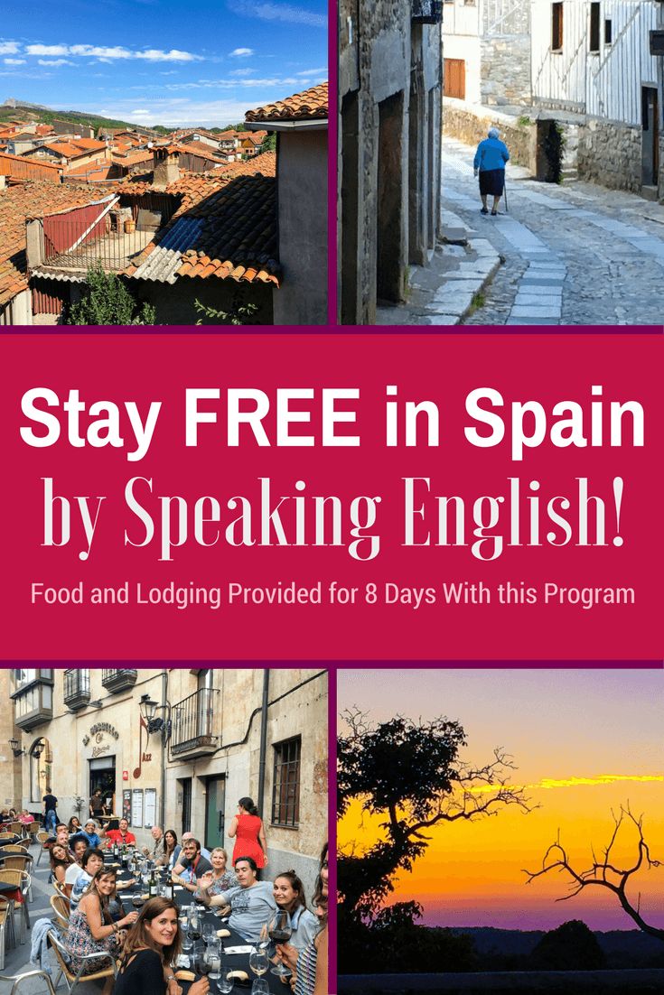 Live in Spain or Germany for FREE in Exchange for Speaking English! Housing and food are provided in this 8-day teaching exchange travel opportunity.