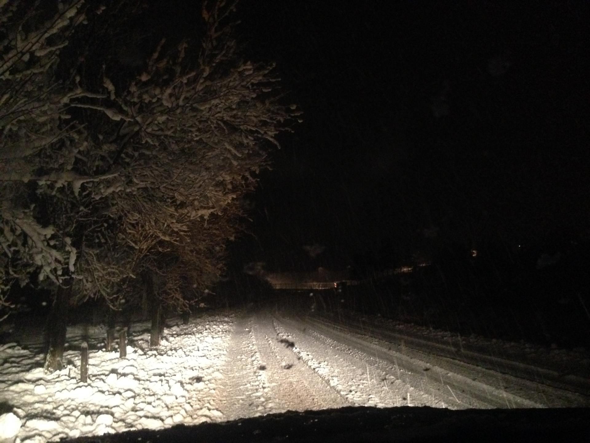 The dramatic Croatian snowstorm.