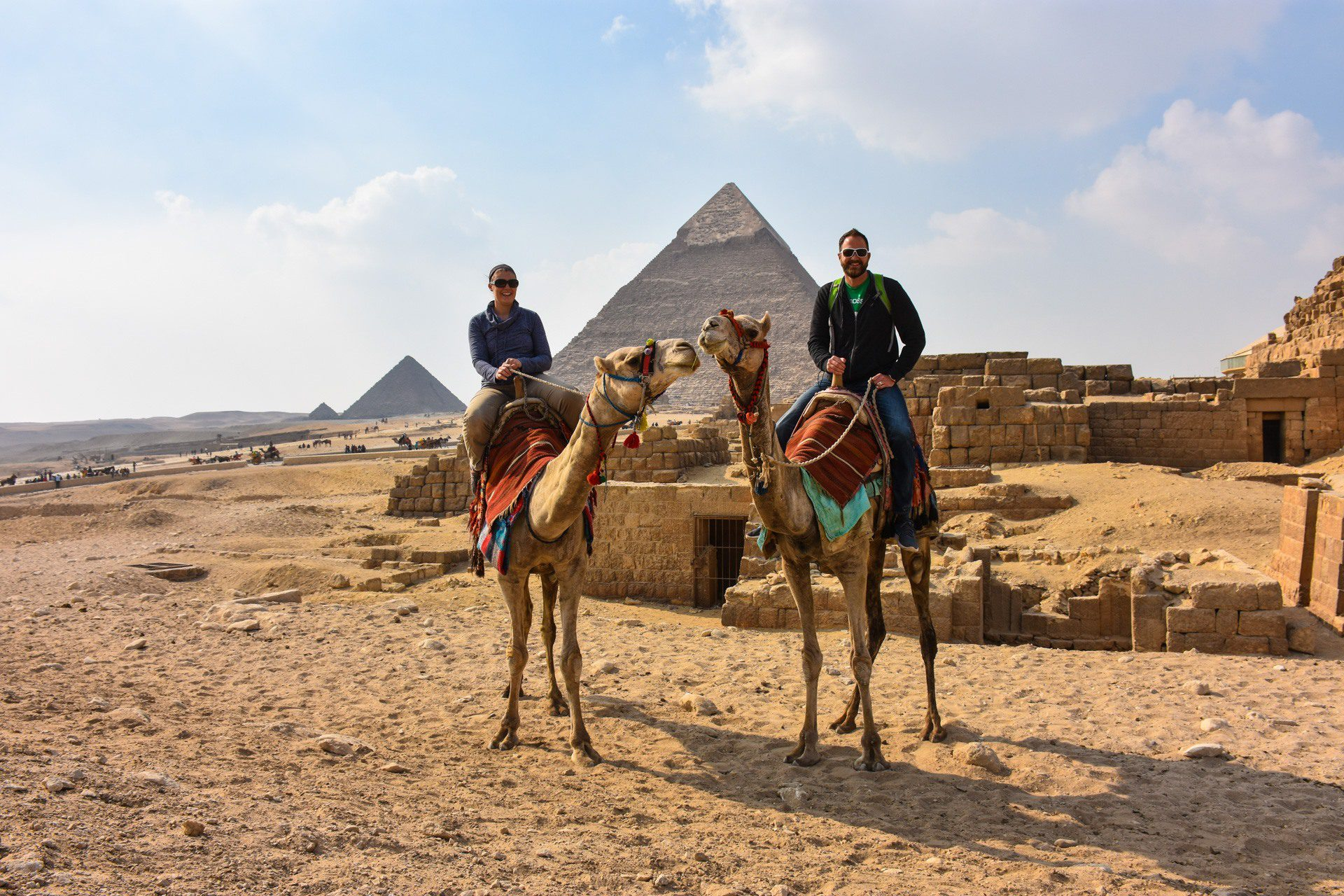 Exploring the Pyramids of Egypt.