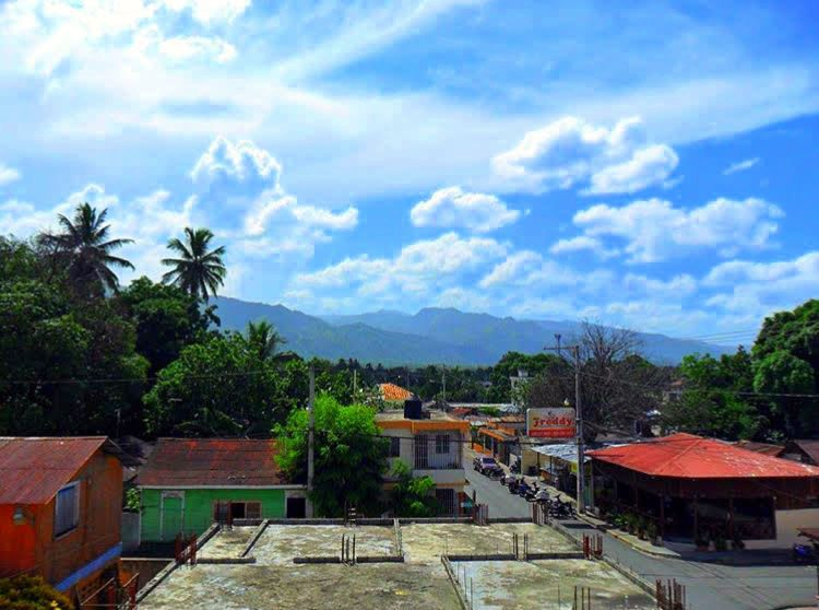 A mountain view in the Dominican Republic.