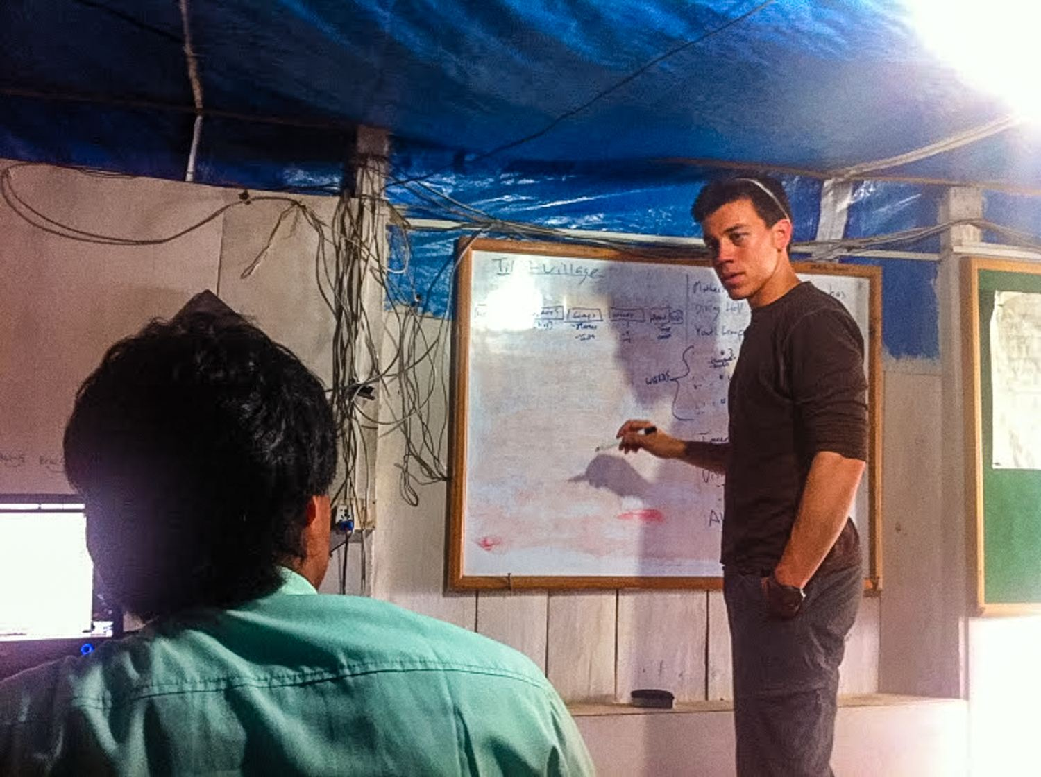 Mark Horoszowski on his personal Experteering trip in Nepal in 2011 where he was supporting the Nepal Wireless Initiative.