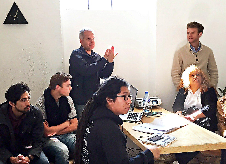 Kelly Experteering with Tenoli in Mexico City to support social entrepreneurship.
